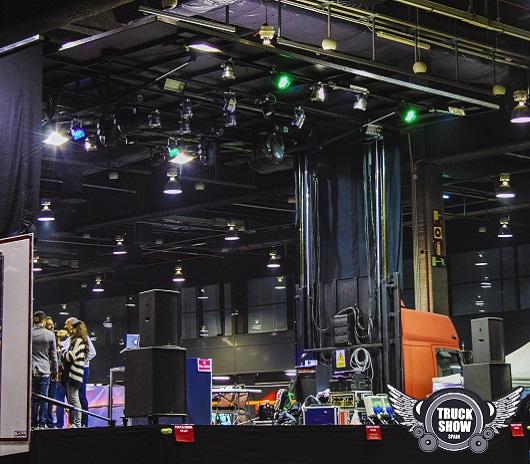 Truck Show abierto en escenario